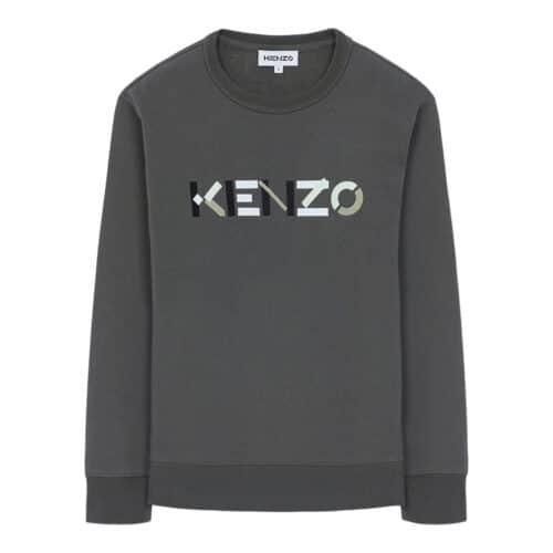 Kenzo Sweater i grå/grøn strik