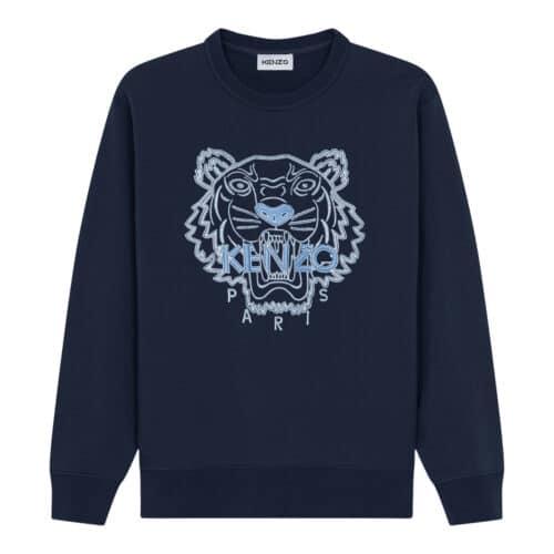 Kenzo Sweater Mørkeblå/lyseblå Tiger