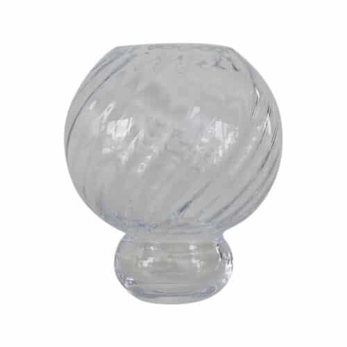 Spectrum Meadow Swirl Vase Clear