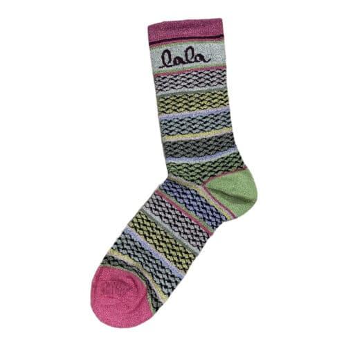 Lala Berlin Socks Silja Stripes Lavender